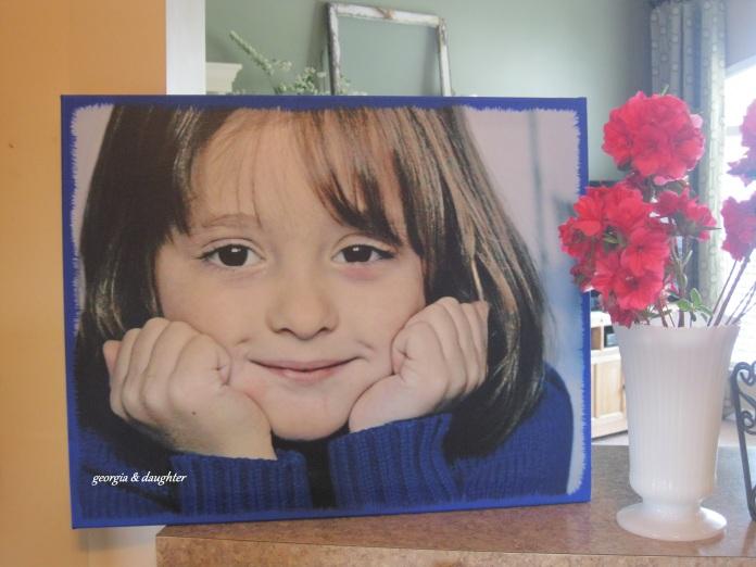 DIY Photo Canvas: georgia & daughter