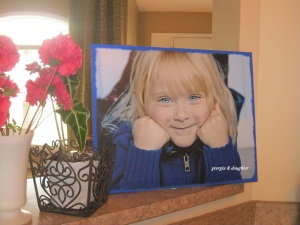 georgia & daughter: {DIY Photo Canvas