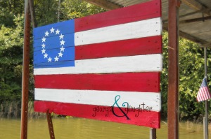 georgia & daughter: {DIY} American Flag from Pallet Boards