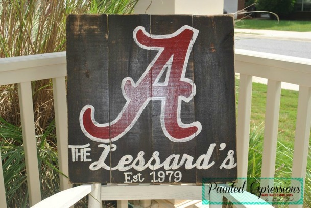 Painted Expressions: University of Alabama sign