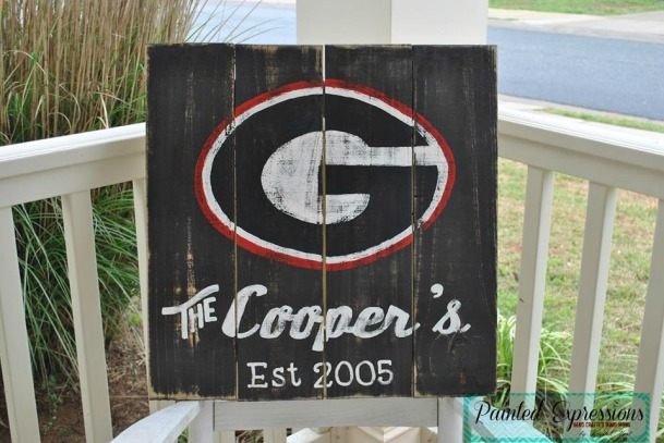 Painted Expressions: University of Georgia sign