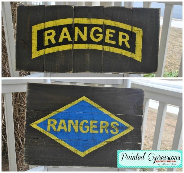 Painted Expressions: Army Range Sign