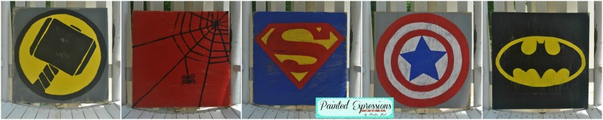 Painted Expressions: Super Hero Signs