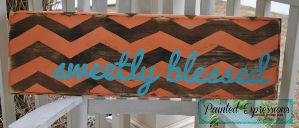 Painted Expressions: Sweetly Blessed sign