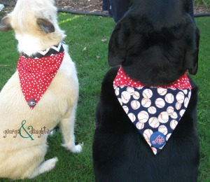 georgia & daughter: {DIY} Dog Collar Bound Bandanas