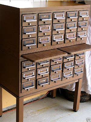 As We Were Shopping At The Flowery Branch Antique Mall, We Spotted This  Wonderful Cabinet From KJax Designs. Not Quite A Vintage Library Card  Catalog But ...