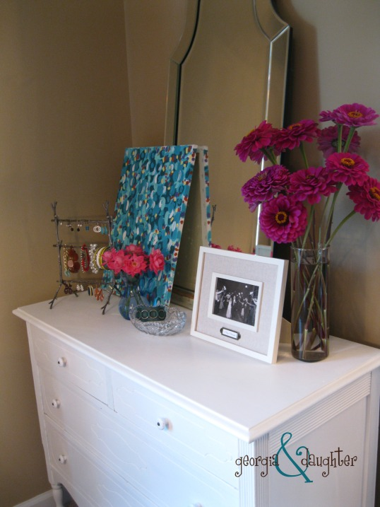 georgia & daughter: Annie Sloan Pure White Dresser