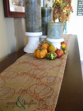 georgia & daughter: {DIY} No Sew Burlap Table Runner