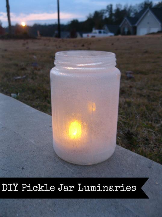 georgia & daughter: DIY Pickle Jar Luminaries