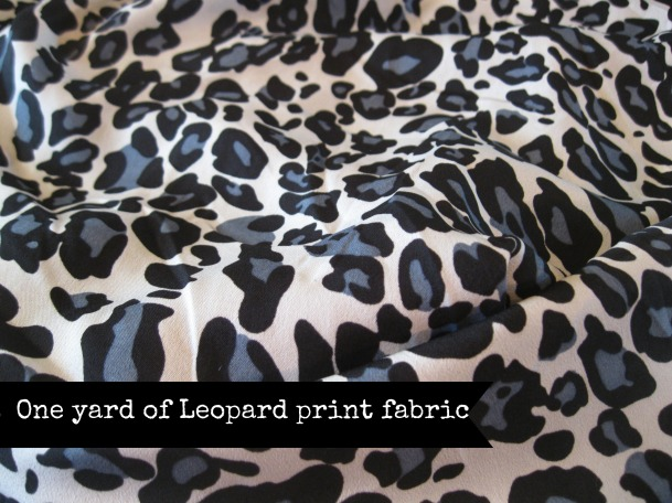 Leopard Print Fabic from JoAnn's