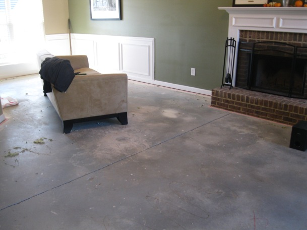 After carpet removal