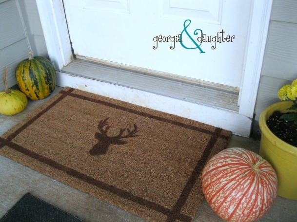 georgia & daughter: {DIY} Painted Welcome Mat