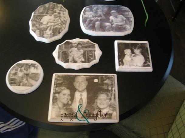 georgia & daughter: Wood Photo Transfer