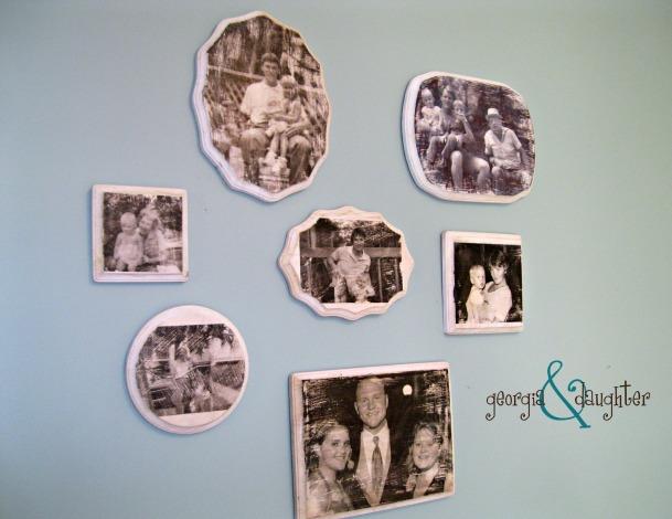 georgia & daughter: DIY  Wood Photo Transfer Gallery Wall