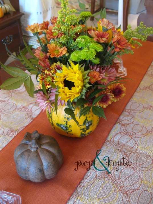 georgia & daughter: Thanksgiving Bouquet and Table