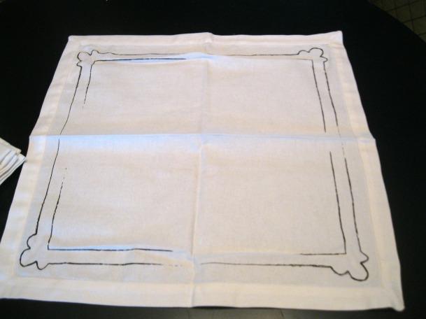 Ballard Designs Framed Napkins