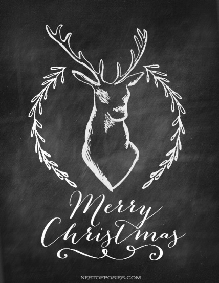 Merry-Christmas-Deer-and-Antler-Chalkboard-Printable