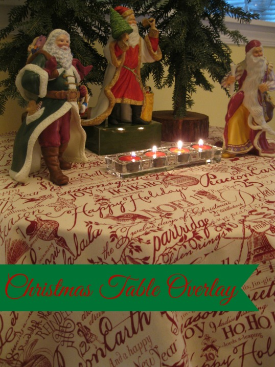 georgia & daughter: Sew Simple Squares - Christmas Table Overlay