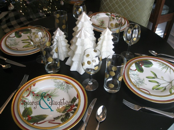 georgia & daughter: Christmas Table Setting