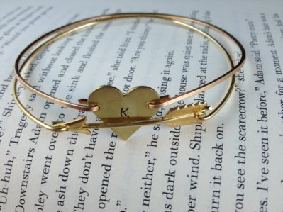 Layered with Love gold arrow bracelet