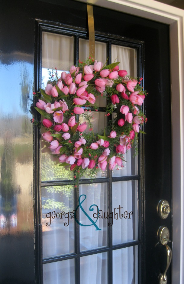 georgia & daughter: Pink Tulip Wreath