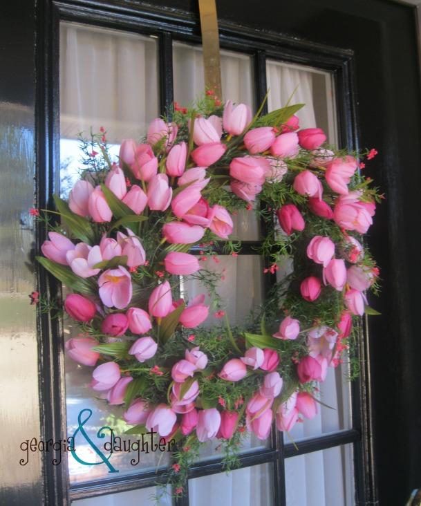 georgia & daughter: Super Simple Spring Tulip Wreath