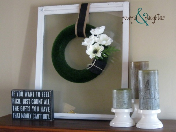 georgia & daughter: Modern Spring Wreath