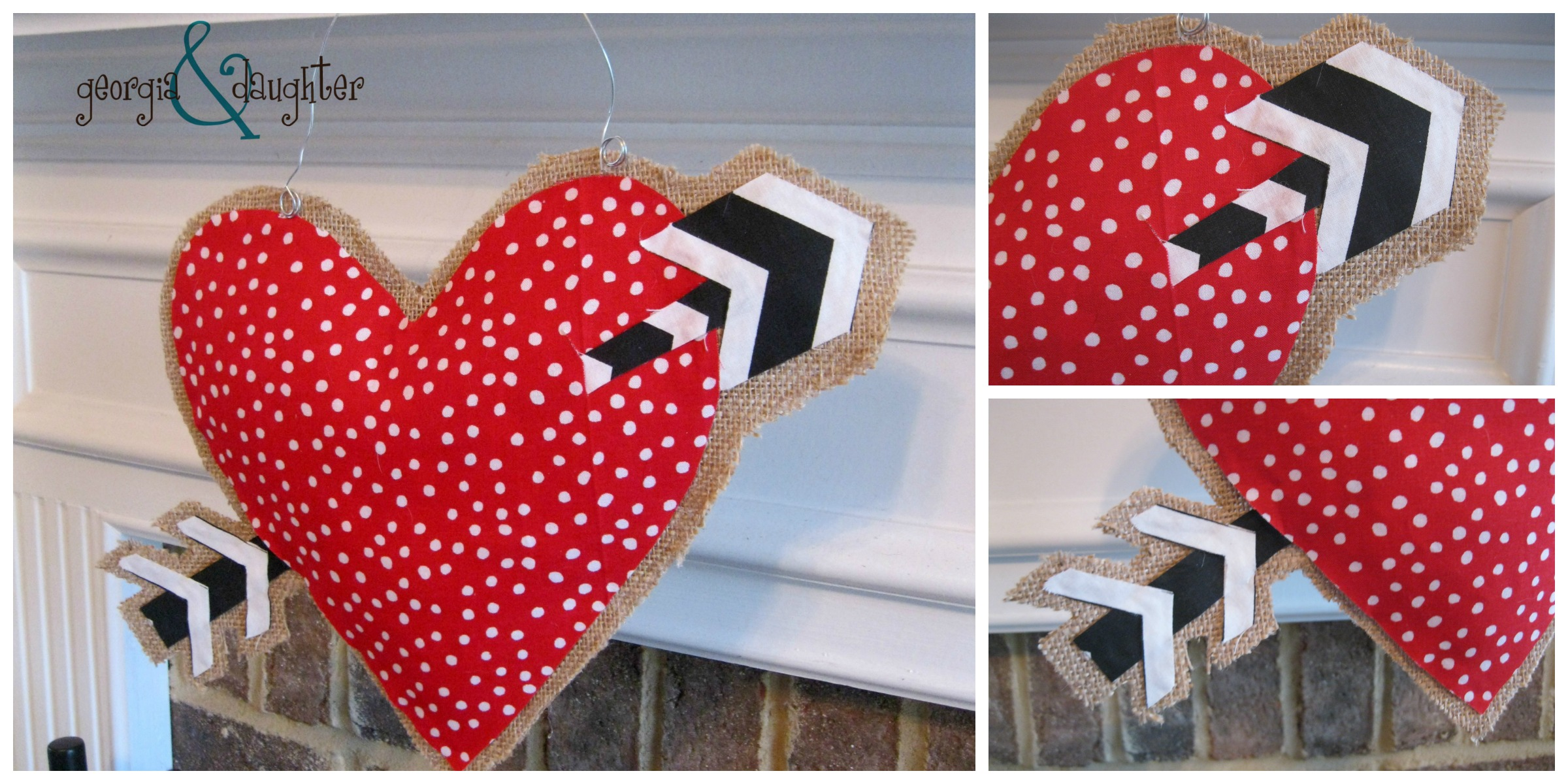 georgia & daughter: DIY Burlap Heart Door Hanger