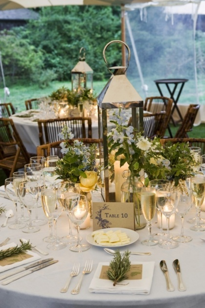 Wedding Centerpiece with Lantern