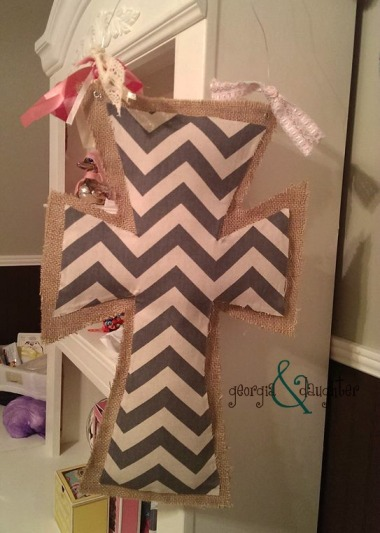 georgia & daughter: A Burlap Easter Door Hanger