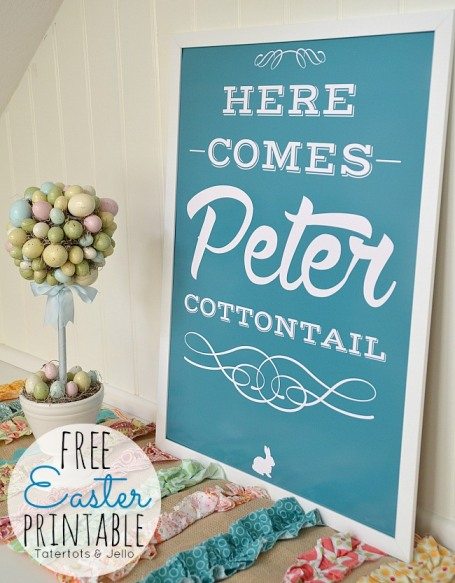 Tatertots and Jello Free Easter Printable
