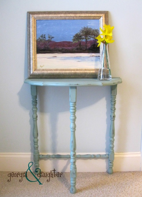 georgia & daughter: Annie Sloan Duck Egg Blue End Table