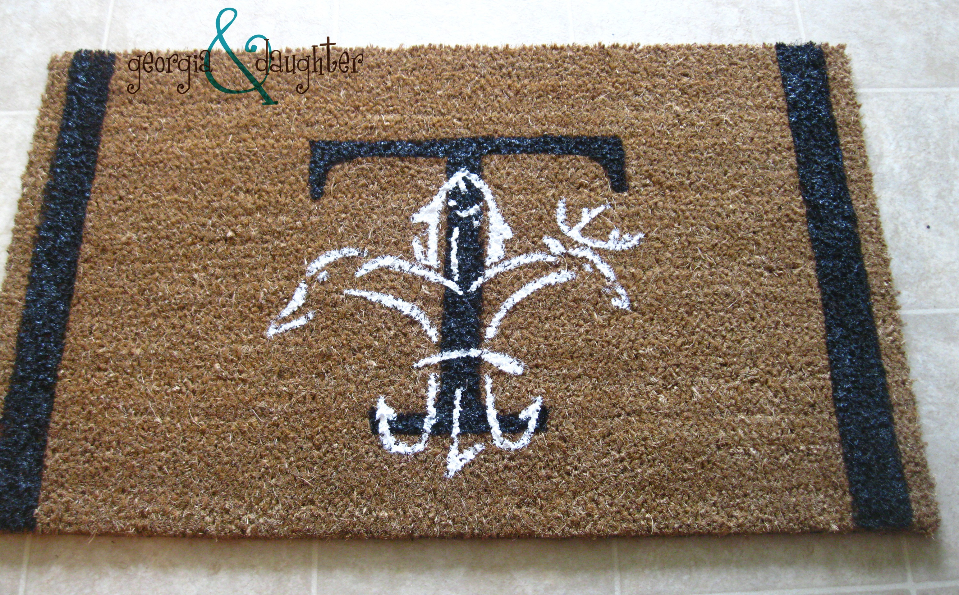 your post front rug for tag door gallery diy a mat welcome craftgawker stencil cute porch