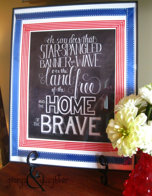 georgia & daughter: Patriotic Picture Frame - July 4th