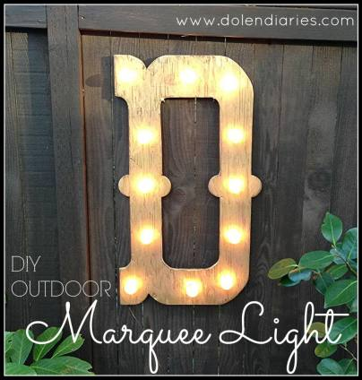 DIY Outdoor Marquee Light
