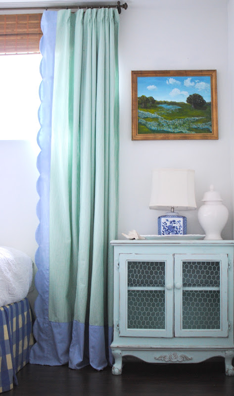 Grace Happens Scallop Curtains