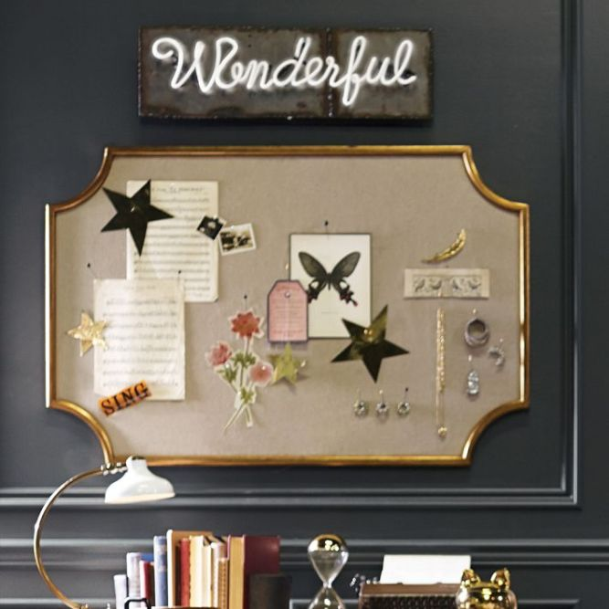 PB Teen The Emily + Meritt Scallop Statement Pinboard