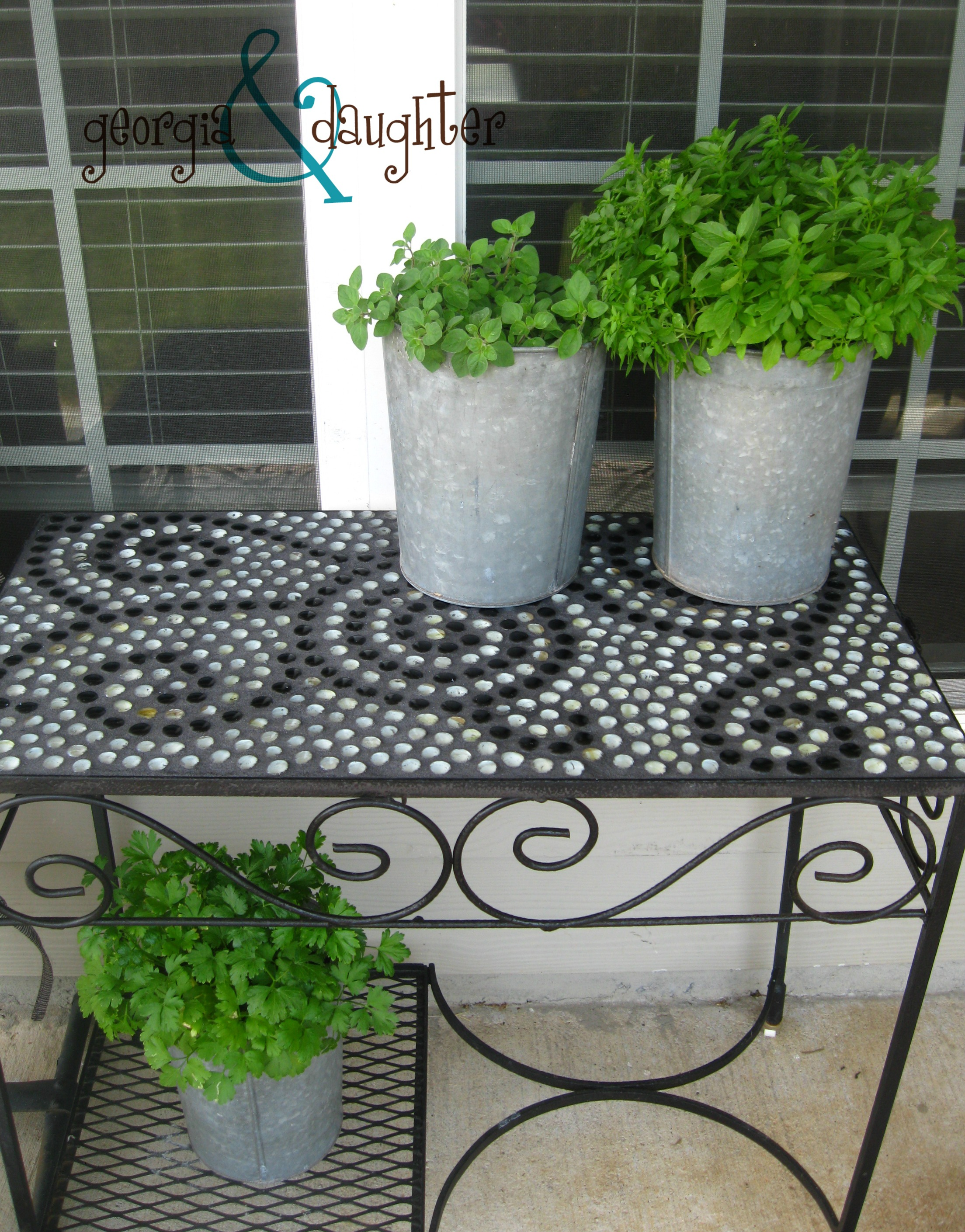 DIY Mosaic Tables Georgia Daughter