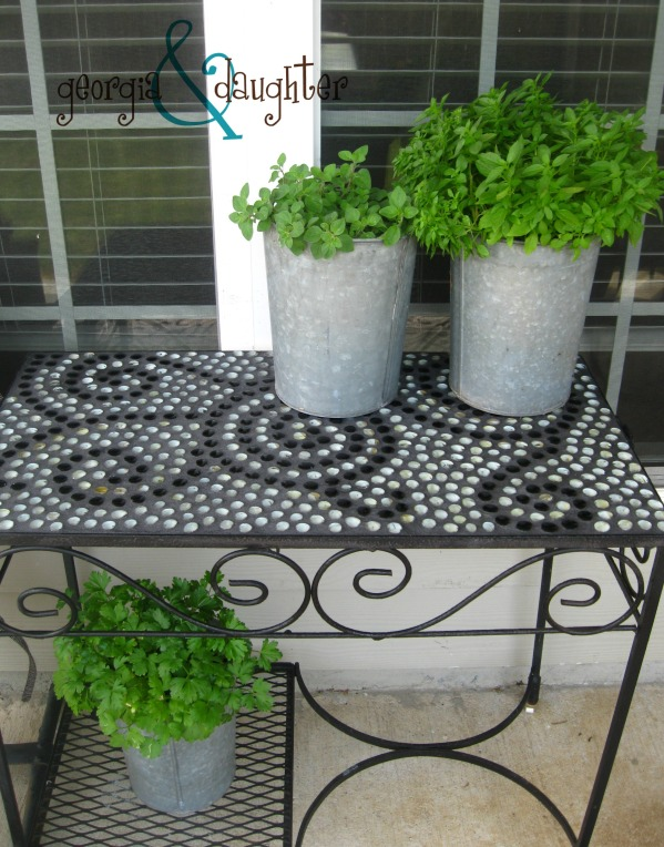 georgia & daughter: {DIY} Mosaic Tables