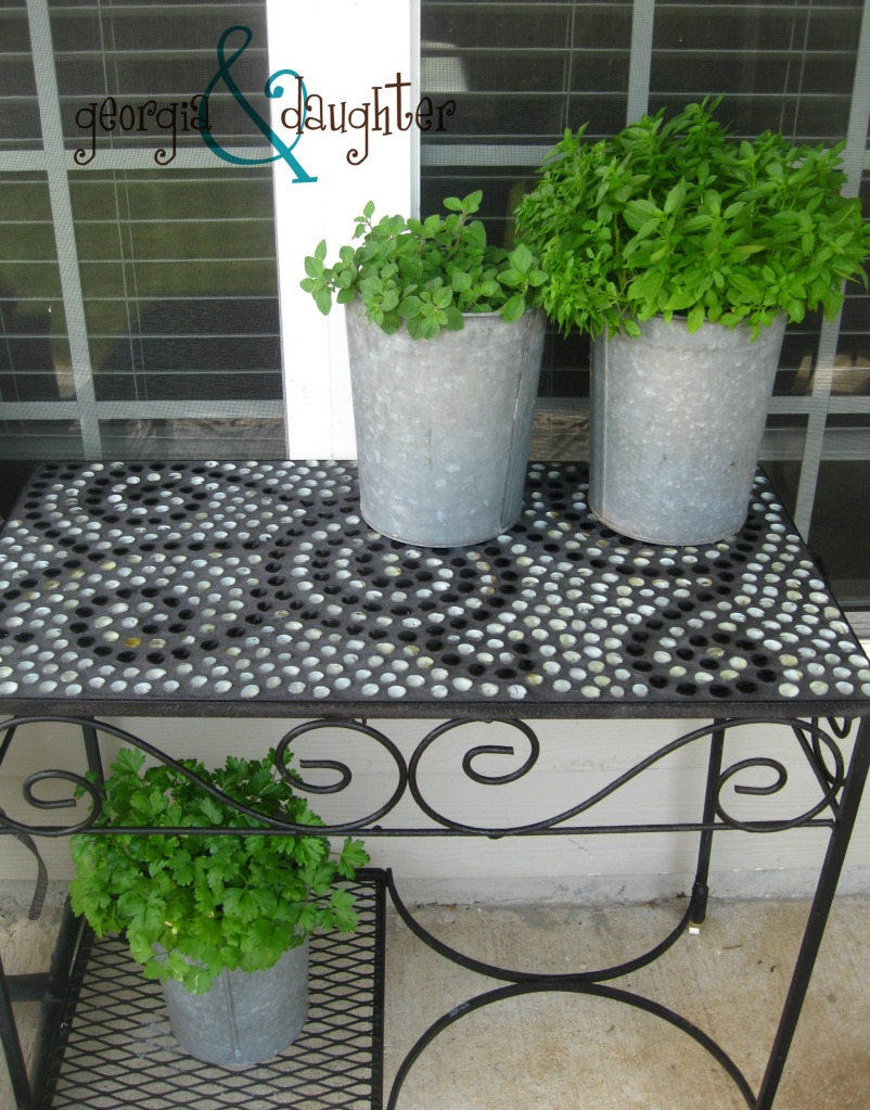 {DIY} Mosaic Tables