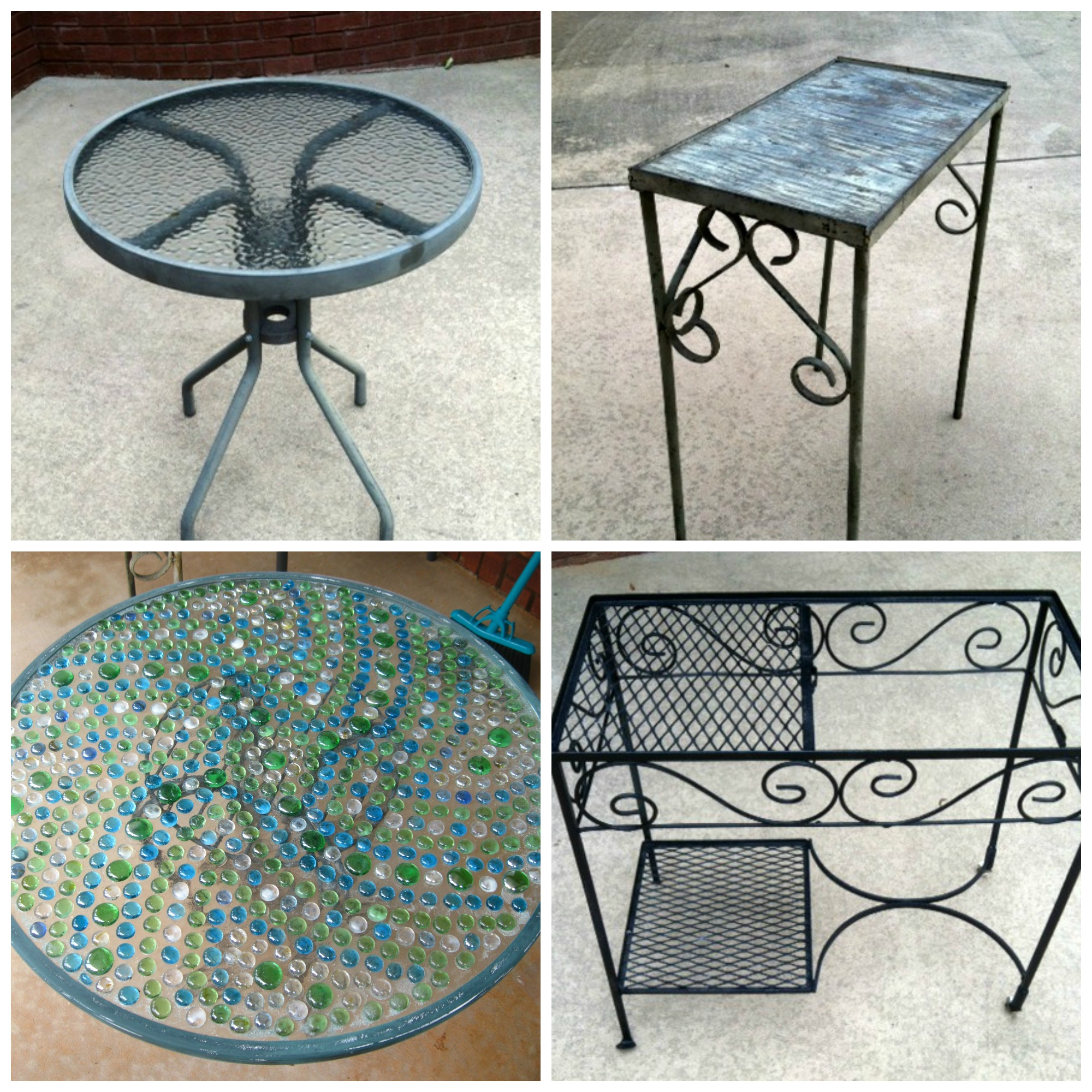 diy mosaic tables georgia daughter. Black Bedroom Furniture Sets. Home Design Ideas