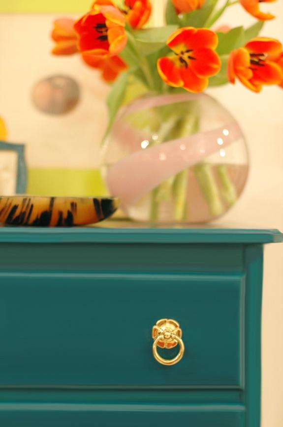 Teal dresser