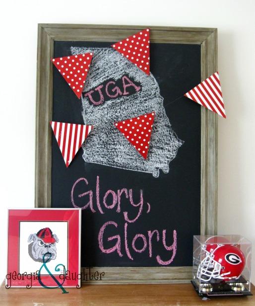 georgia & daughter: DIY Chalkboard - UGA - Bulldogs