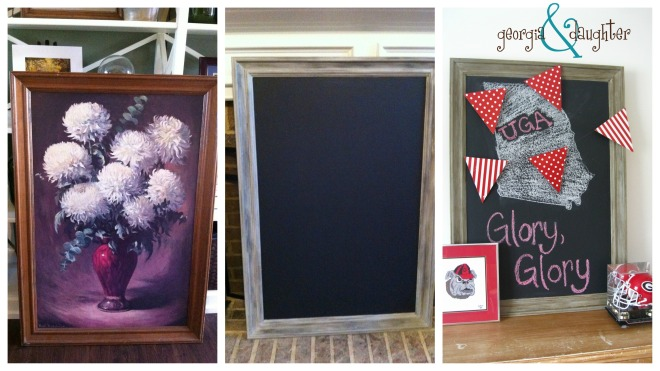 georgia & daughter: DIY Chalkboard